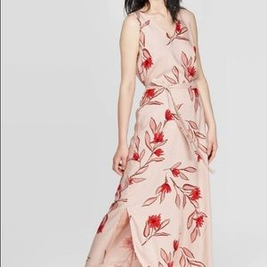 2/$20 A New Day Rose Pink Floral Maxi Dress XL